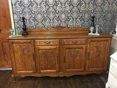 £539 • Buy Vintage French Louis Xv Style 4 Door/2 Drawer Large Sideboard