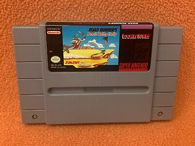 Road Runner's Death Valley Rally Super Nintendo SNES Original OEM Authentic Game • 6.79£