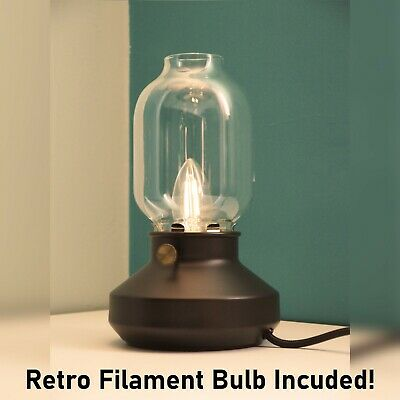 Retro Vintage Table Lamp Glass Industrial Dimmable Bedside Desk Reading Light • 24.95£