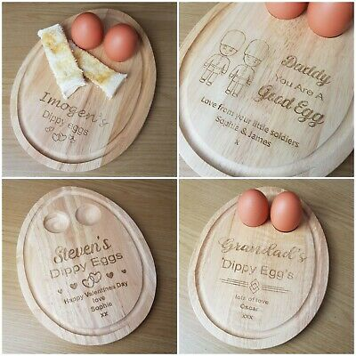 £12.99 • Buy Mothers Day Personalised Dippy Egg Breakfast Board For Nanny, Mummy, Grandma,