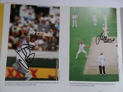 £14.99 • Buy Sir Ian Botham England Cricket,  Signed A4 Size Book Picture.  Also Jeff Crowe.