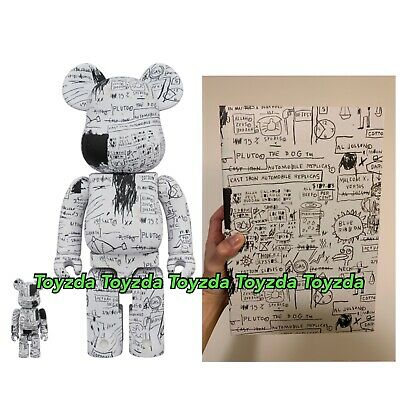 $518.88 • Buy Medicom 2019 Jean-Michel Basquiat #3 Version 400% + 100% Bearbrick Be@rbrick
