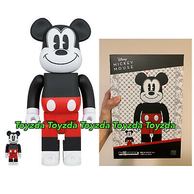 $126.88 • Buy Medicom 2020 Disney Mickey Mouse Red & White 400% + 100% R&W Be@rbrick Bearbrick