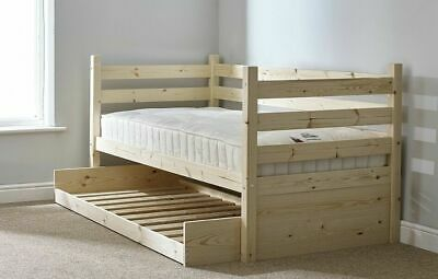£179.95 • Buy RIPVAN Day Bed 3ft Single With Trundle Guest Bed Pine Daybed HEAVY DUTY  (EB47)
