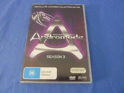Andromeda Complete Season 3 DVD Digitally Re-Mastered Collectors Edition R0 • 6.07£