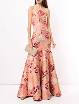 AU250 • Buy New Rare Alice Mccall Floral Metallic Rose Maxi Pink Gown Dress Size 6 Rrp $795