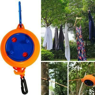 8m Retractable Clothesline Outdoor Camping Portable Clothes Hanging Rack F5U2 • 3.83£