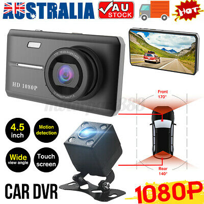 AU47.77 • Buy 4.5'' Touch Screen HD 1080P Car Dash Camera Recorder DVR With Rear Reverse Cam