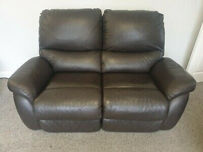 Laz-e-boy 3 & 2 Seater Elec Recliners Brown Leather • 545£