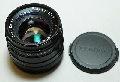 $ CDN1499.75 • Buy CONTAX G Carl Zeiss Planar 45mm F/2 45/2 Black Color For G1 G2 Camera