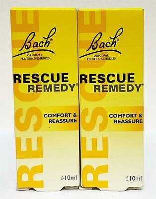Bach Rescue Remedy Drops Comfort & Reassure 20ml (2 X 10ml) Bundle • 9.50£