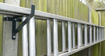 Ladder Brackets That Fit H Section 100mm Concrete Fence Posts (1×PAIR) • 19.45£