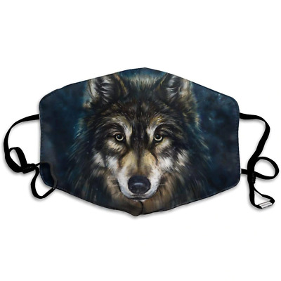 £5 • Buy Wolf Pattern Face Covering Mask Breathable Polyester Cotton Reuseable