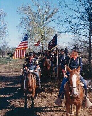 $9.75 • Buy The Horse Soldiers John Wayne Leads Cavalry Posse On Horseback With Flags 8x10