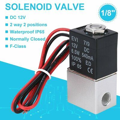 AU18.23 • Buy 1/8in 12V DC Electric Solenoid Valve Air Gas Water Fuel Normally Closed 2 Way