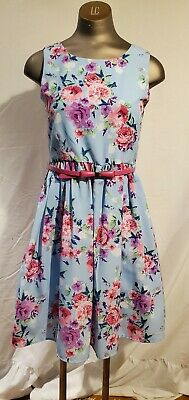 AU12.57 • Buy Teens  Juniors Dress By Disorderly Kids Size 16 Blue & Pink Floral Sleeveless