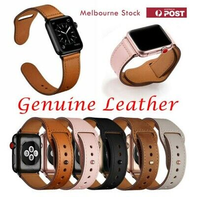 AU14 • Buy Genuine Leather Strap IWatch Band For Apple Watch Series 6 5 4 3 2 1 SE 40mm 44