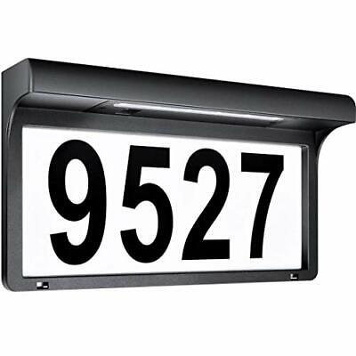 House Numbers Solar Powered Address Sign LED Illuminated Outdoor Metal Plaque  • 31.51£