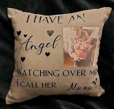 Personalised Memorial Photo Cushion~Beautiful Memory Maker~Perfect Gift • 8£