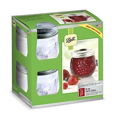 $23.09 • Buy Ball FBA_1440081210 Jelly Elite Collection Jam Jar (4 Pack), 8 Oz, Clear, RM