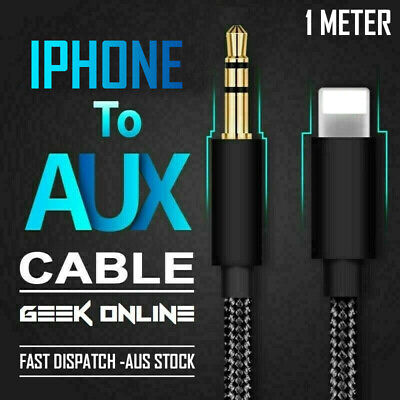 AU5.99 • Buy For IPhone To 3.5mm Jack Male Audio AUX Cord Cable IPhone 12 11 XS Max 8 7 Plus