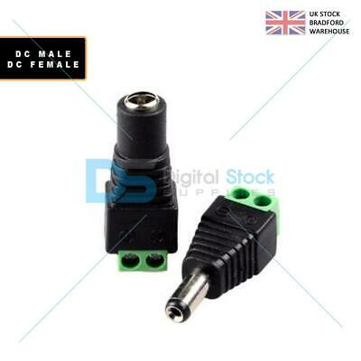 £2.49 • Buy 12V DC Male Female Power Balun Connector Cable Adapter Jack Plug For CCTV CAMERA