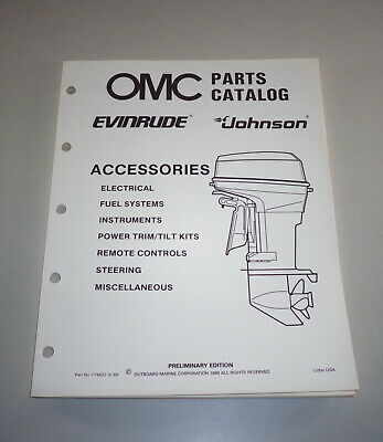 AU31.05 • Buy Parts Catalog Accessories Omc Johnson Evinrude Outboard Motor Boat Stand 09/88