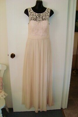 AU45 • Buy FOREVER NEW 8 Sm 10 Rp $200 Formal Wedding Party Silk Maxi Lace Dusty Pink Dress