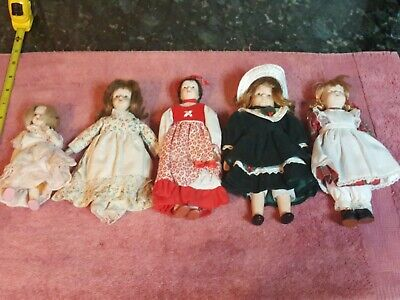 $ CDN24.19 • Buy Vintage Lot Of 5 Porcelain Dolls ( Various Sizes )