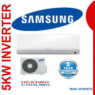 AU1245 • Buy SAMSUNG 5kw INVERTER AIR CONDITIONER SPLIT SYSTEM REVERSE CYCLE MOSWL AR18KSFTA