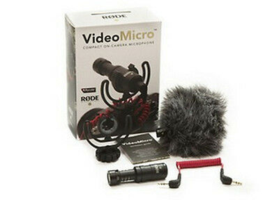 Rode VideoMicro Compact On-Camera Recording Microphone For Camera Video New • 44.98£