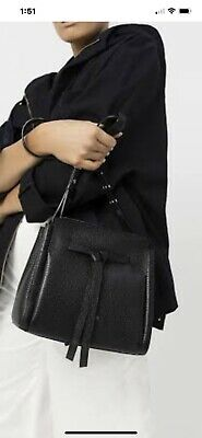"AU99 • Buy OROTON ""AVALON"" CROSS BODY MINI BUCKET BAG, BLACK Used Twice"