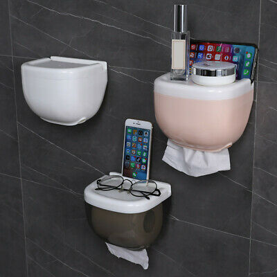 AU14.53 • Buy Waterproof Mount Bathroom Toilet Paper Rolls Phone Holder Shelf Organizer AUSTOC