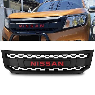 Black Front Badge Logo Styling Style Grille Grill For Nissan Navara Np300 15-20 • 99.99£