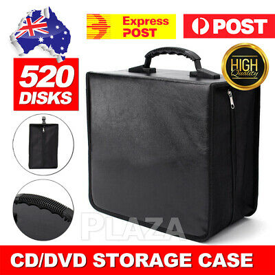 AU19.50 • Buy 520 Capacity Disc CD DVD Case Wallet Storage Holder Booklet Album Folder Bag Box