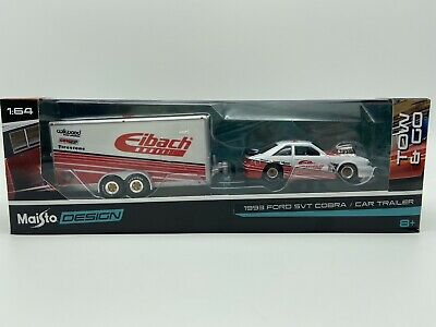 $22.06 • Buy Maisto Tow & Go 1993 Ford Svt Mustang Cobra Fox Body With Trailer Free Shipping