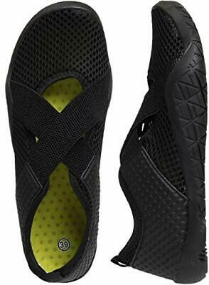 WHITIN Women's Water Shoes With Arch Support, Black, Size 7.5 D80U • 20.98£