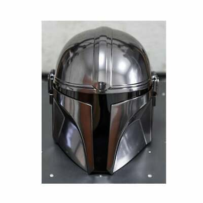 Steel Mandalorian Helmet With Liner And Chin Strap (For LARP/Costumes/Role Plays • 175£