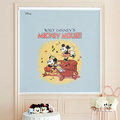 [Disney] Mickey Minnie Mouse Window Roller Shades Bedroom Blackout Curtain Blind • 188.90£