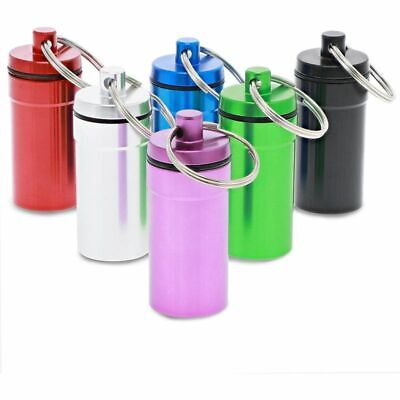 $7.99 • Buy 6 Colors Portable Pill Cases, Waterproof Aluminum Pill Holders With Keychain