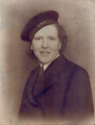 Original WW2 Photo Of A Woman In The Women's Royal Naval Service WRNS • 10£