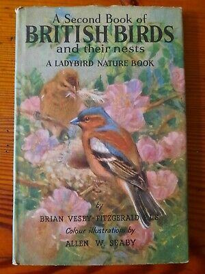 A Second Book Of British Birds And Their Nests, Ladybird Book, Series 536 • 5£