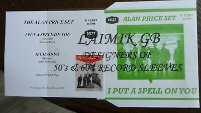 New:alan Price Set:i Put A Spell On You:record Sleeve • 5.99£
