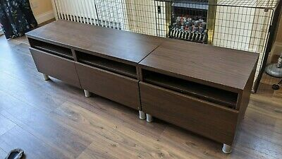 Ikea Besta TV Bench, With Drawers-  In Fairly Good Used Condition • 40£