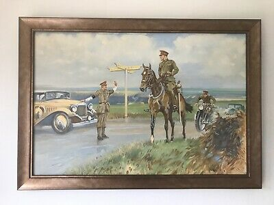 $542.24 • Buy Early 20th Century British School WW1 Military Oil Painting