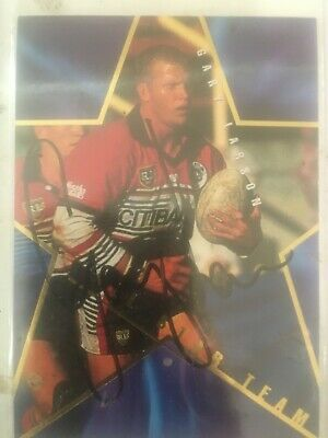 AU25 • Buy 1996 AUSTRALIAN Rugby League Series 1 All Stars Card AS5 Signed By Gary Larson.