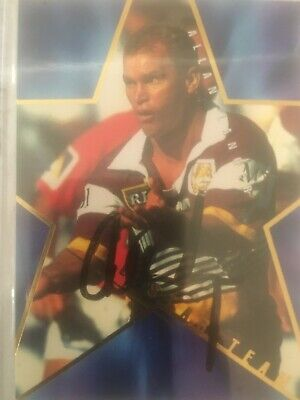 AU25 • Buy 1996 AUSTRALIAN Rugby League Series 1 All Stars Card AS14 Signed By Allan Langer