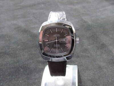 NOS 1970s Gents Lanco Automatic 25 Jewel Watch, Swiss Made • 142£