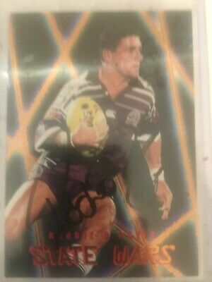 AU25 • Buy 1996 AUS Rugby League Series 2 State Wars Card SW11 Signed By Robbie O'Davis.