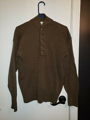 $35.99 • Buy Jack Young Olive Drab 100% Wool Henley US Army Military Sweater Size M (38-40)